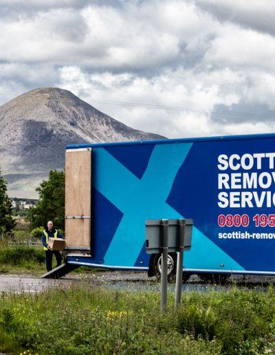 Scottish Removal Service unloading in Breakish