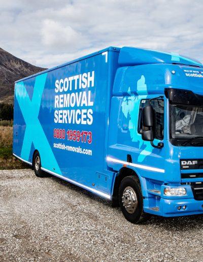 Scottish Removals Lorry arriving back to Broadford base