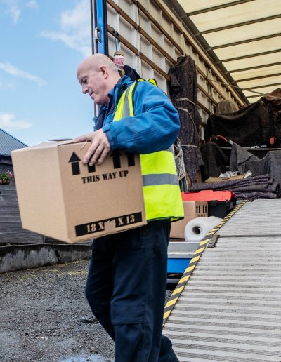 Scottish Removal Services unloading in Skye