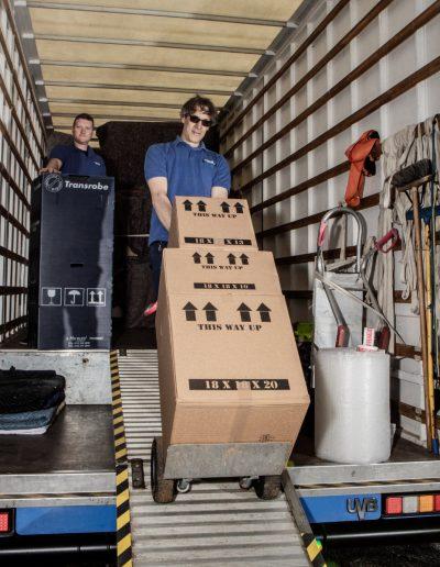 Scottish Removals loading lorry 2