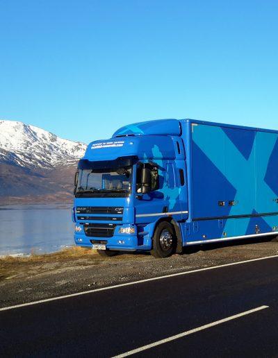 Scottish Removals - Lorry parked beside Clunie Dam